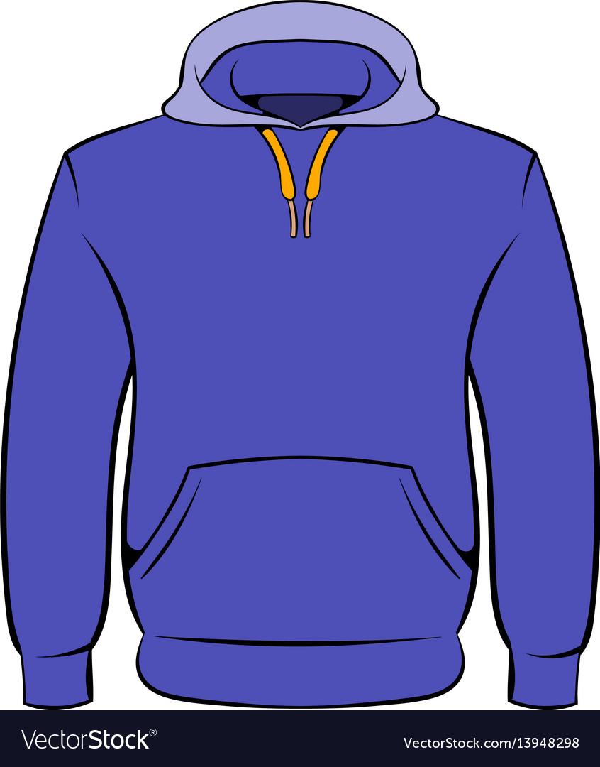 Men hoodies icon cartoon