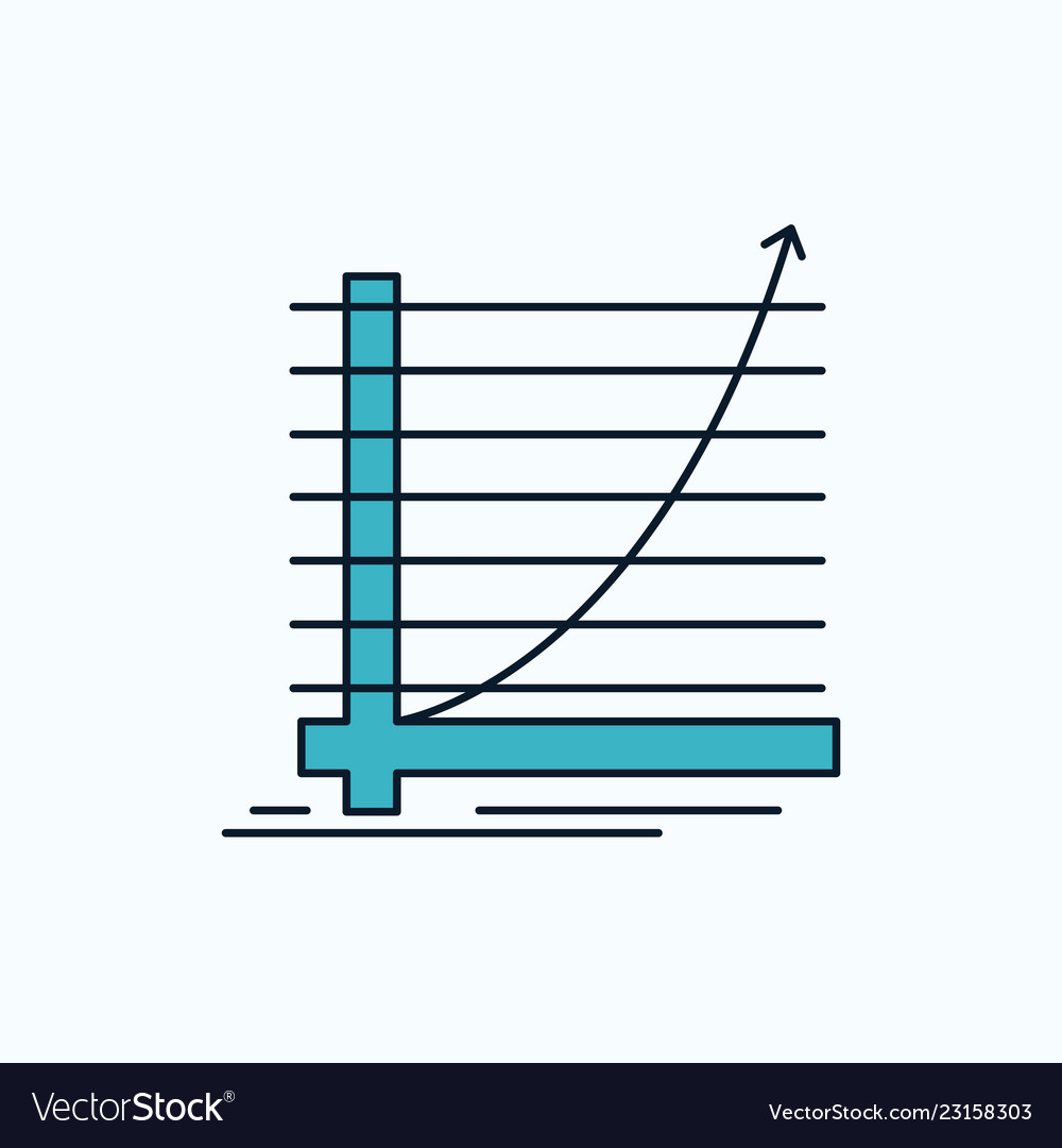 Arrow chart curve experience goal flat icon green