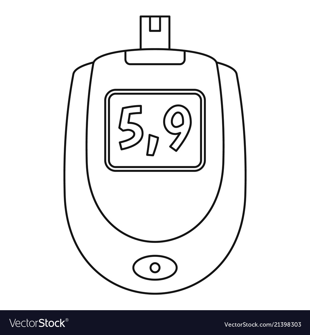 Blood glucose level icon outline style