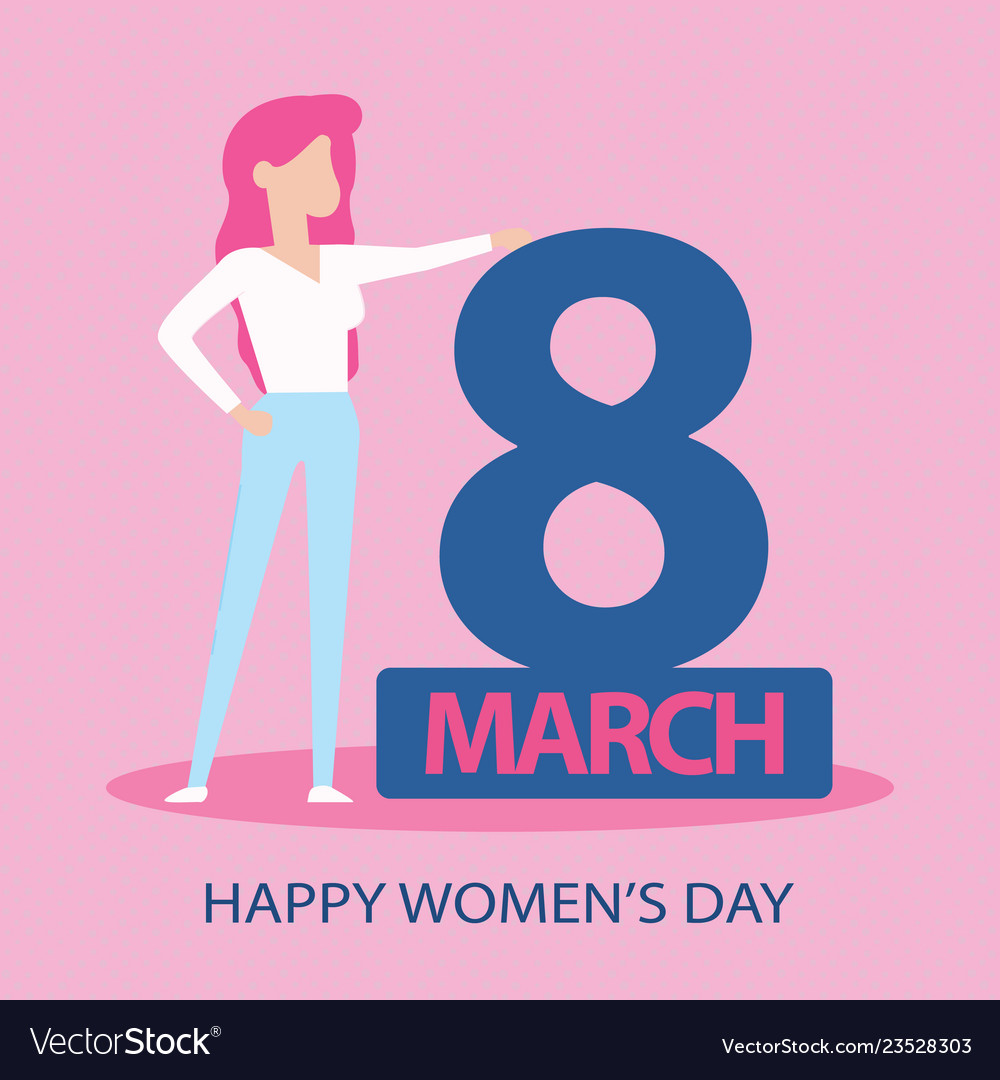 Card for 8 march women s day abstract background