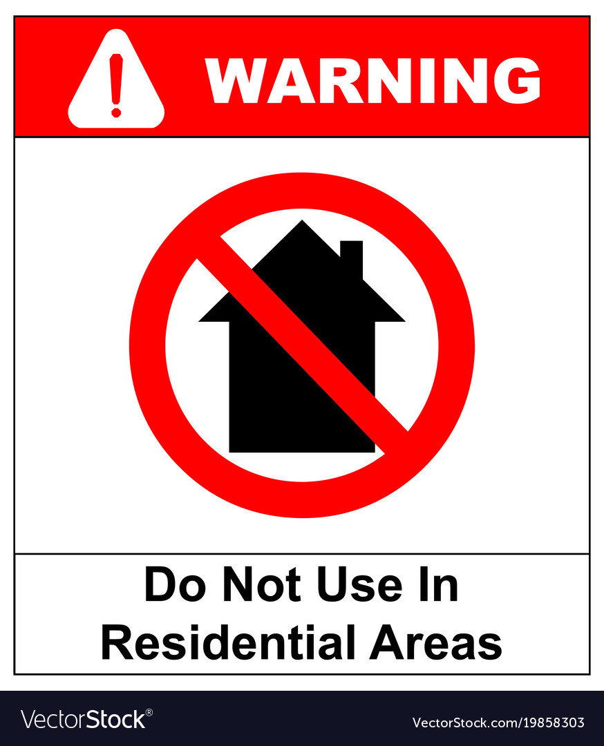 Do not use inside home icon