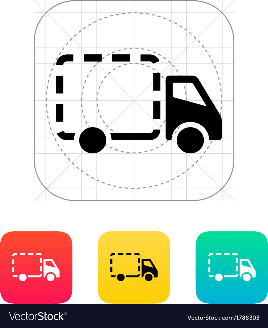 Empty delivery truck icon