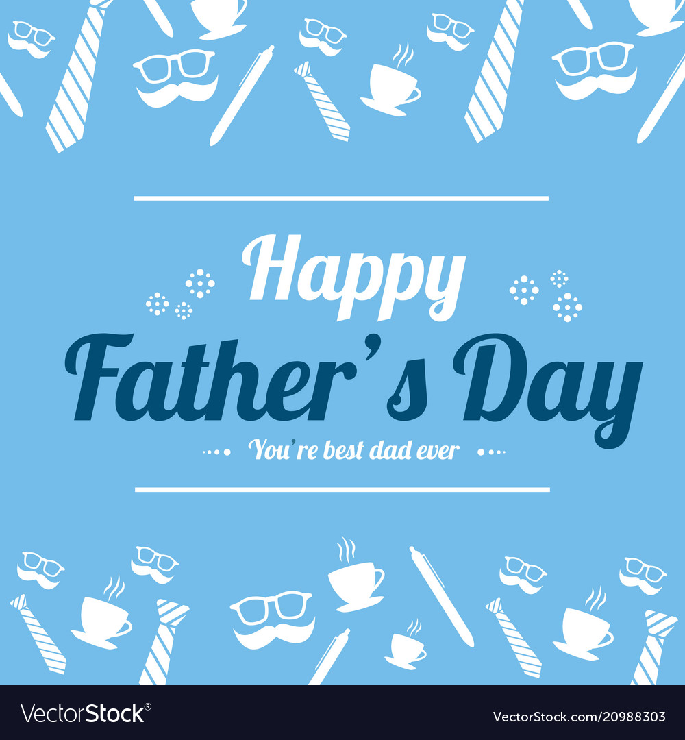 Father Day Design Greeting Card Royalty Free Vector Image