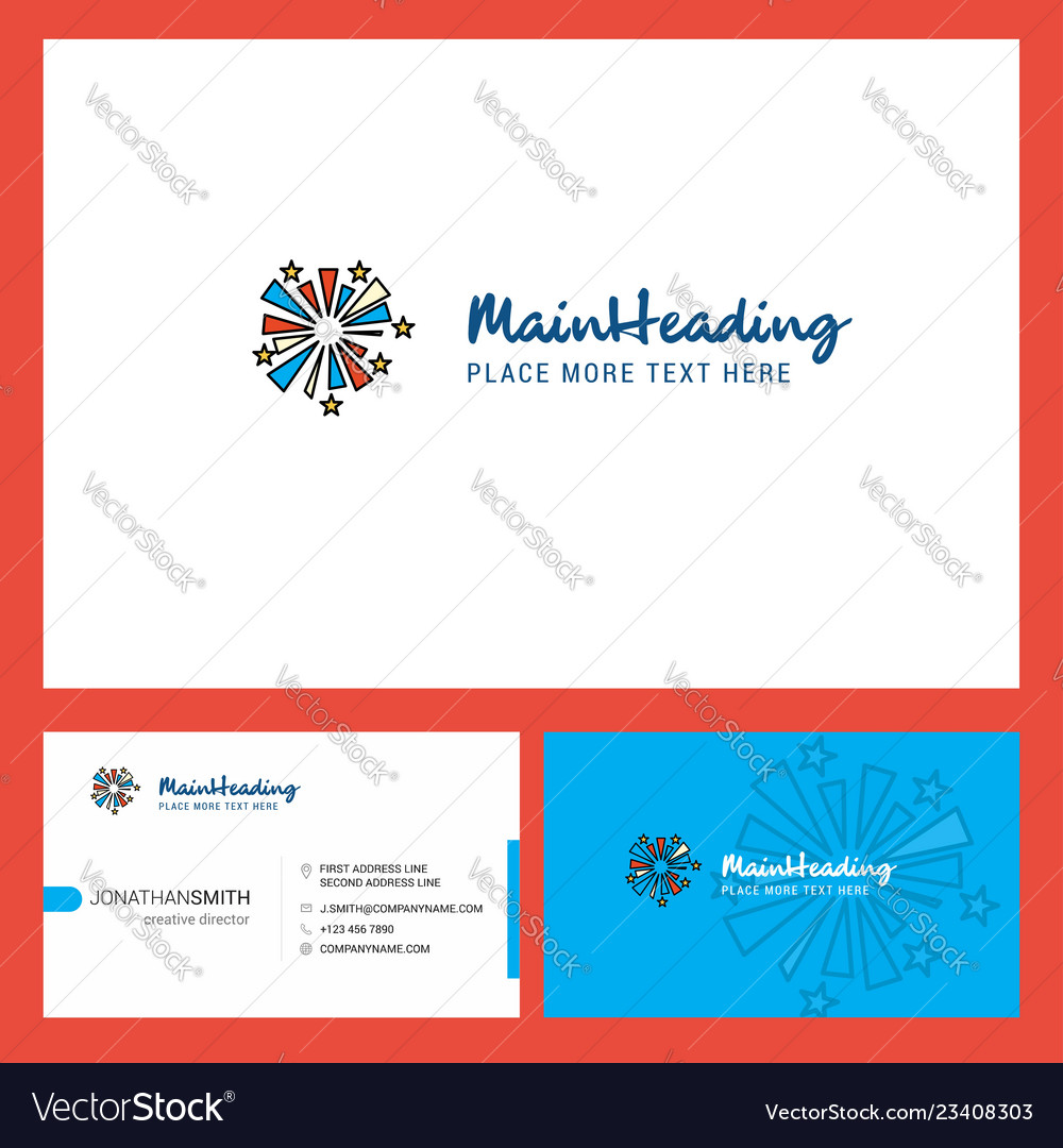 Fireworks logo design with tagline front and