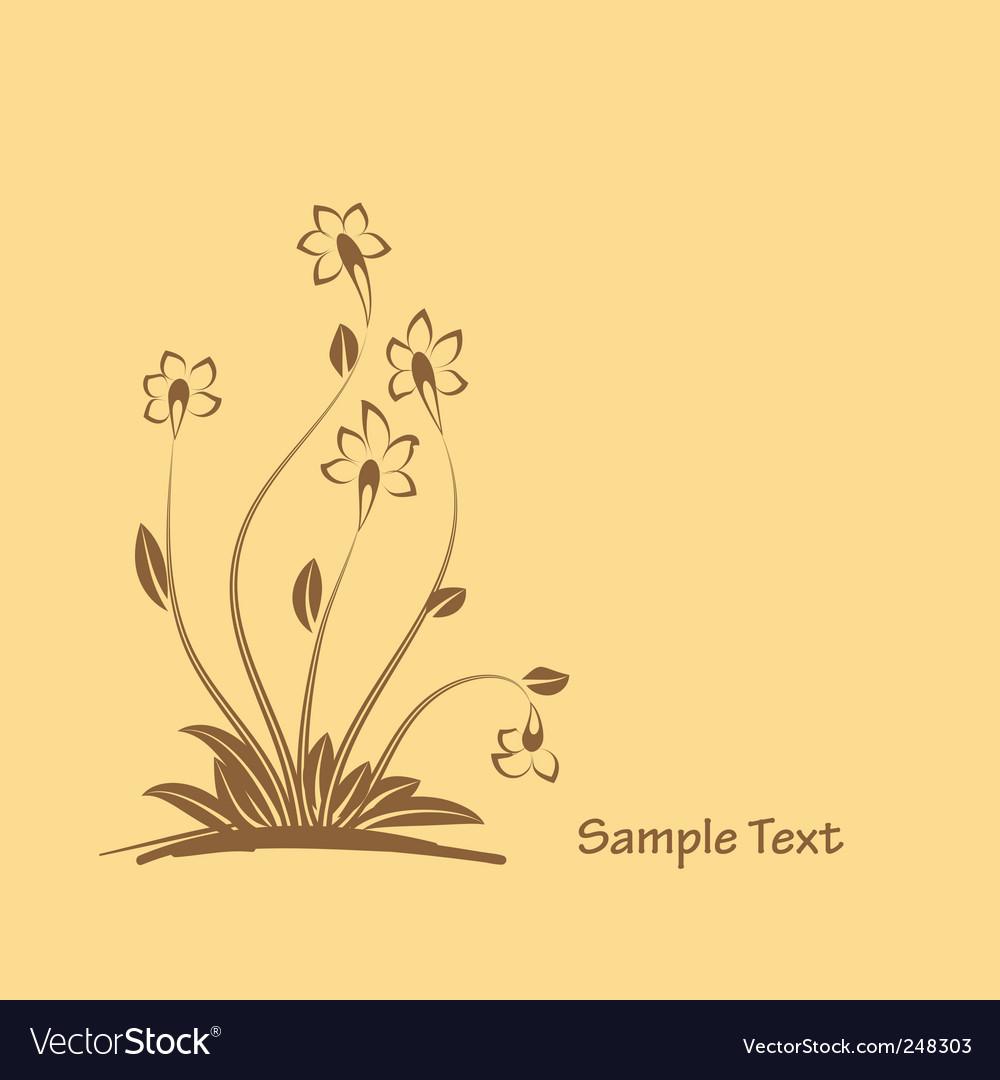 Flowers graphic design
