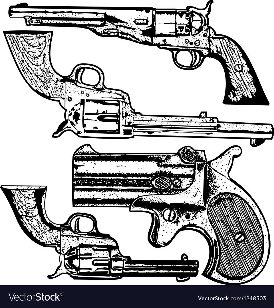 Grunge Pistols Set