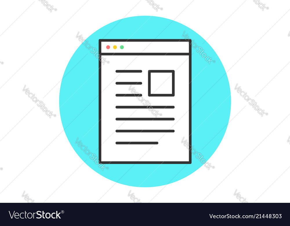 Icon of web page