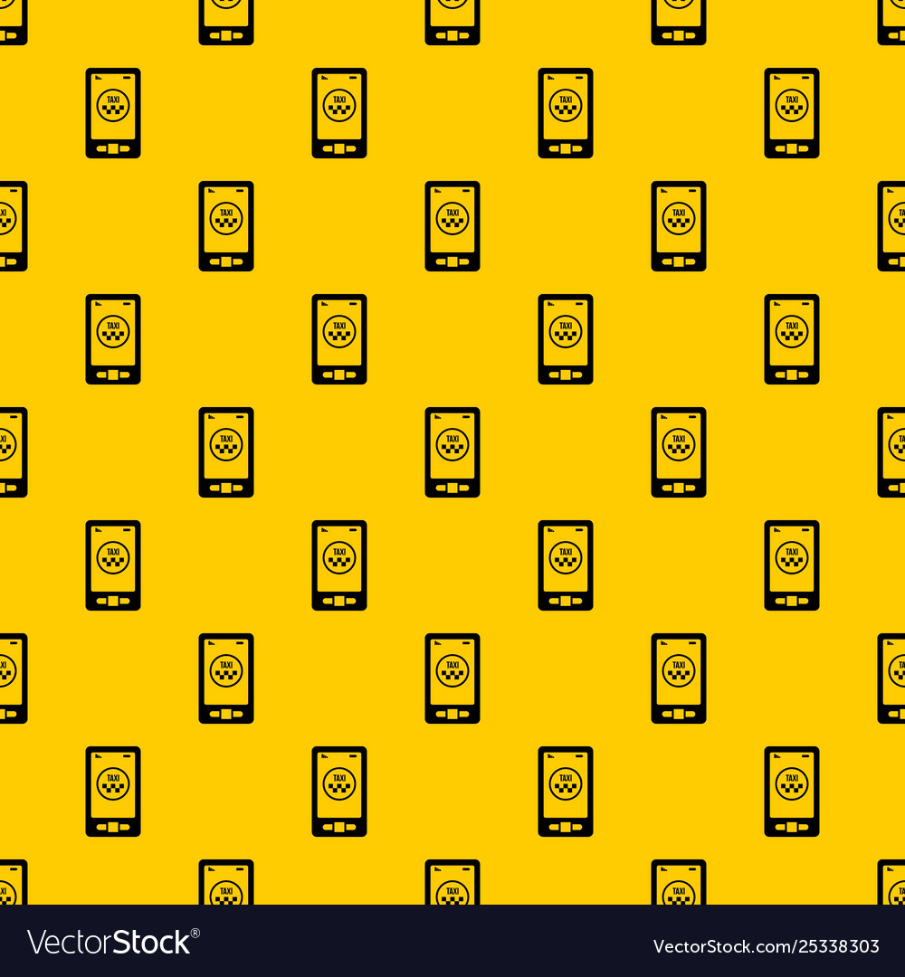 Taxi app in phone pattern