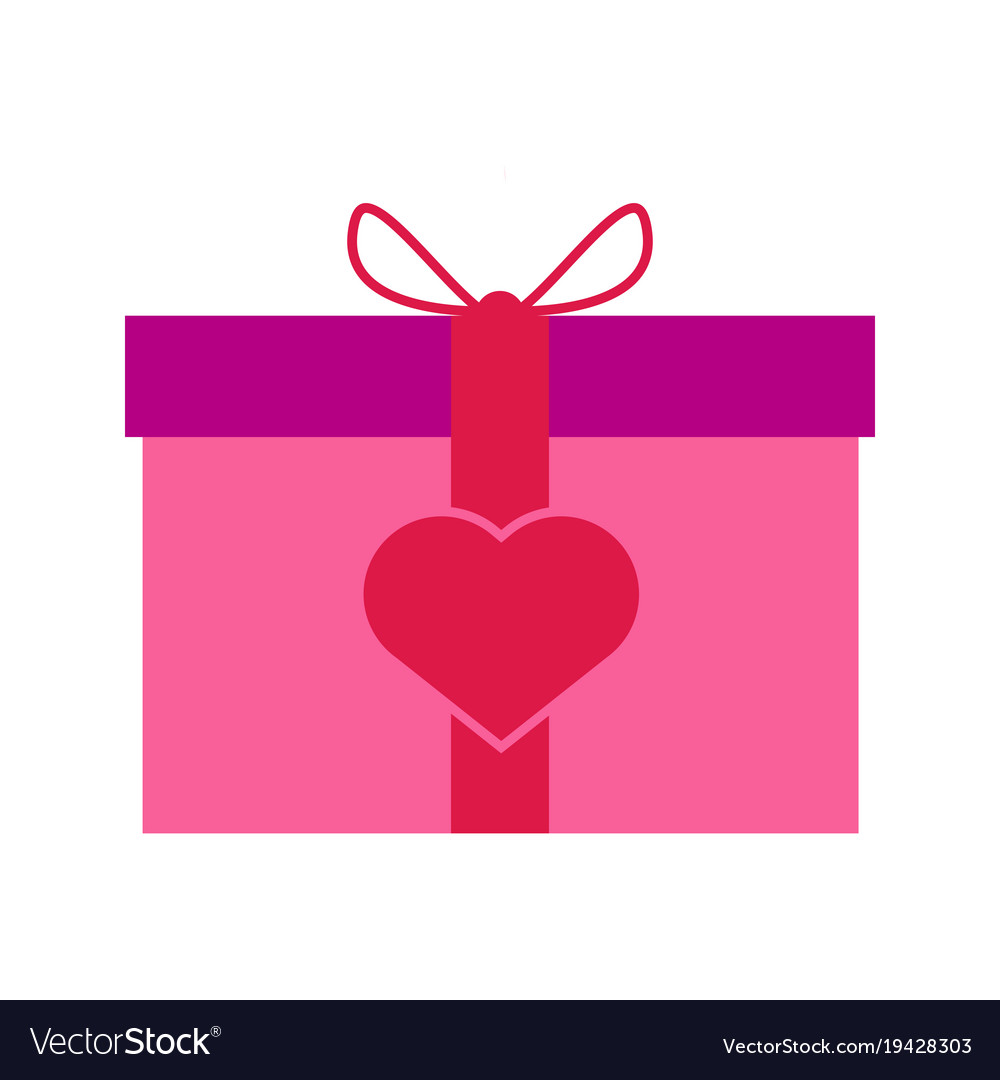 Valentine Gift Box Graphic Royalty Free Vector Image