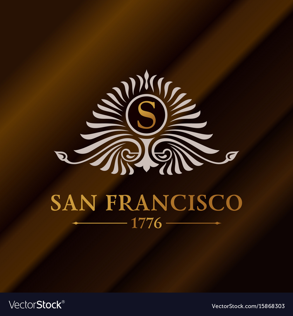 Vintage gold hipster label with lettering san