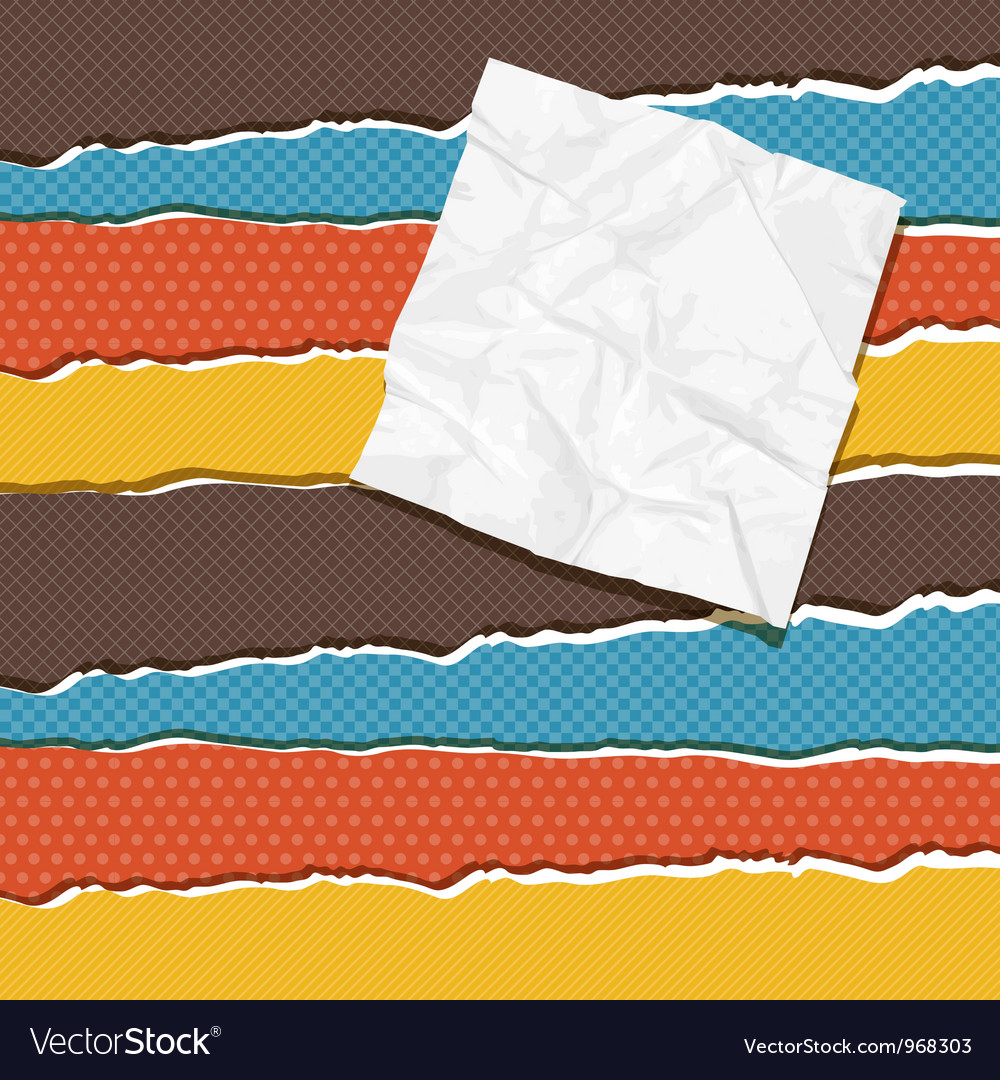 Vintage torn paper background vector image