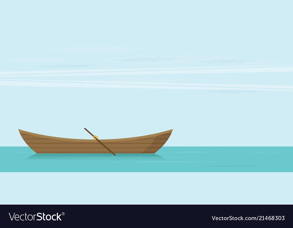 Wooden boat flat