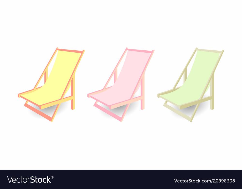 Beach Chair Set Of Chaise Longues