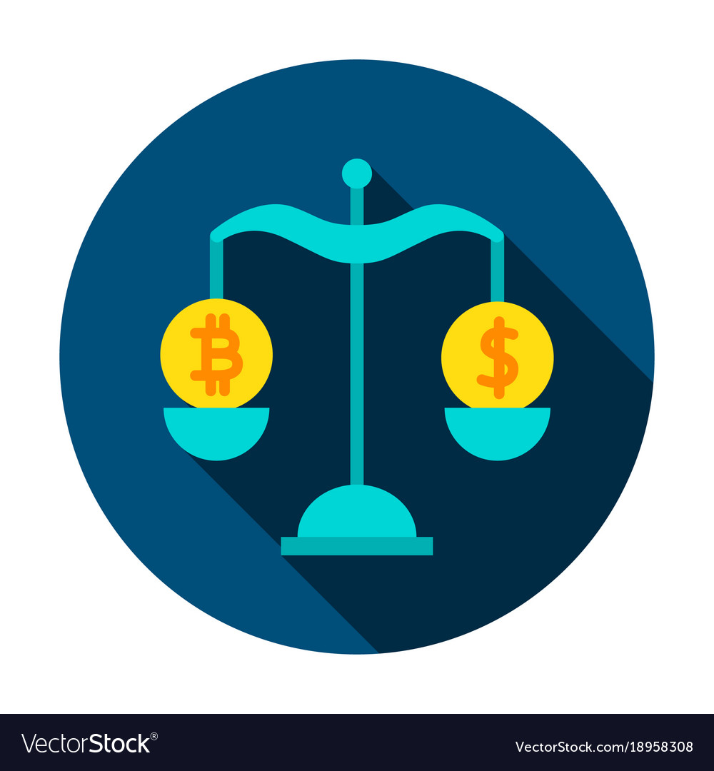 Bitcoin dollar rate circle icon