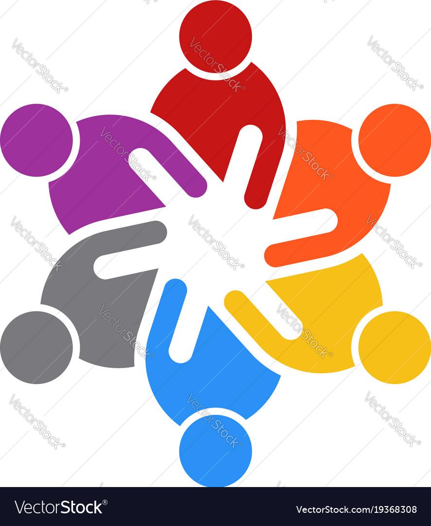 Business people meeting of six people logo