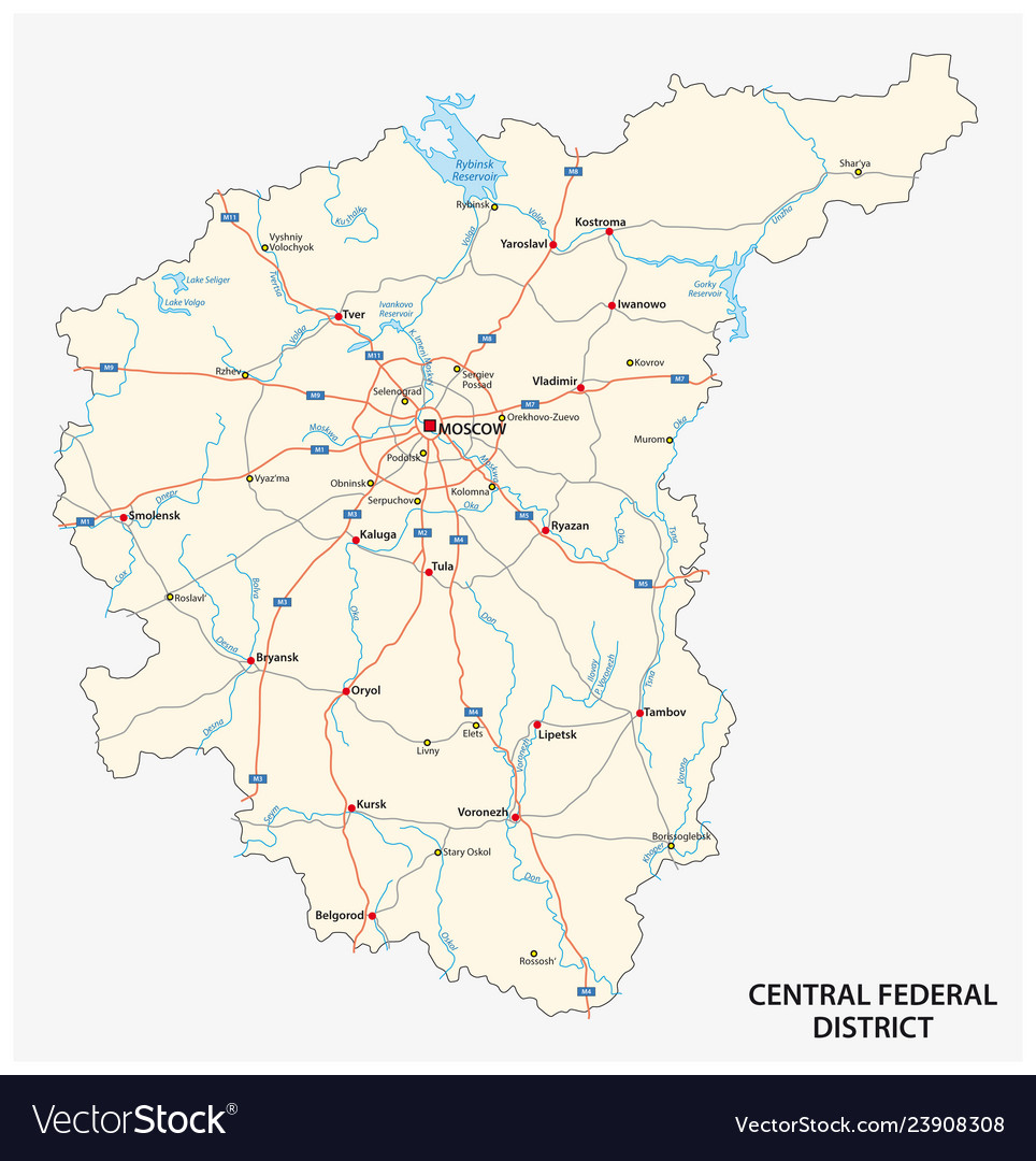 Central federal district road map
