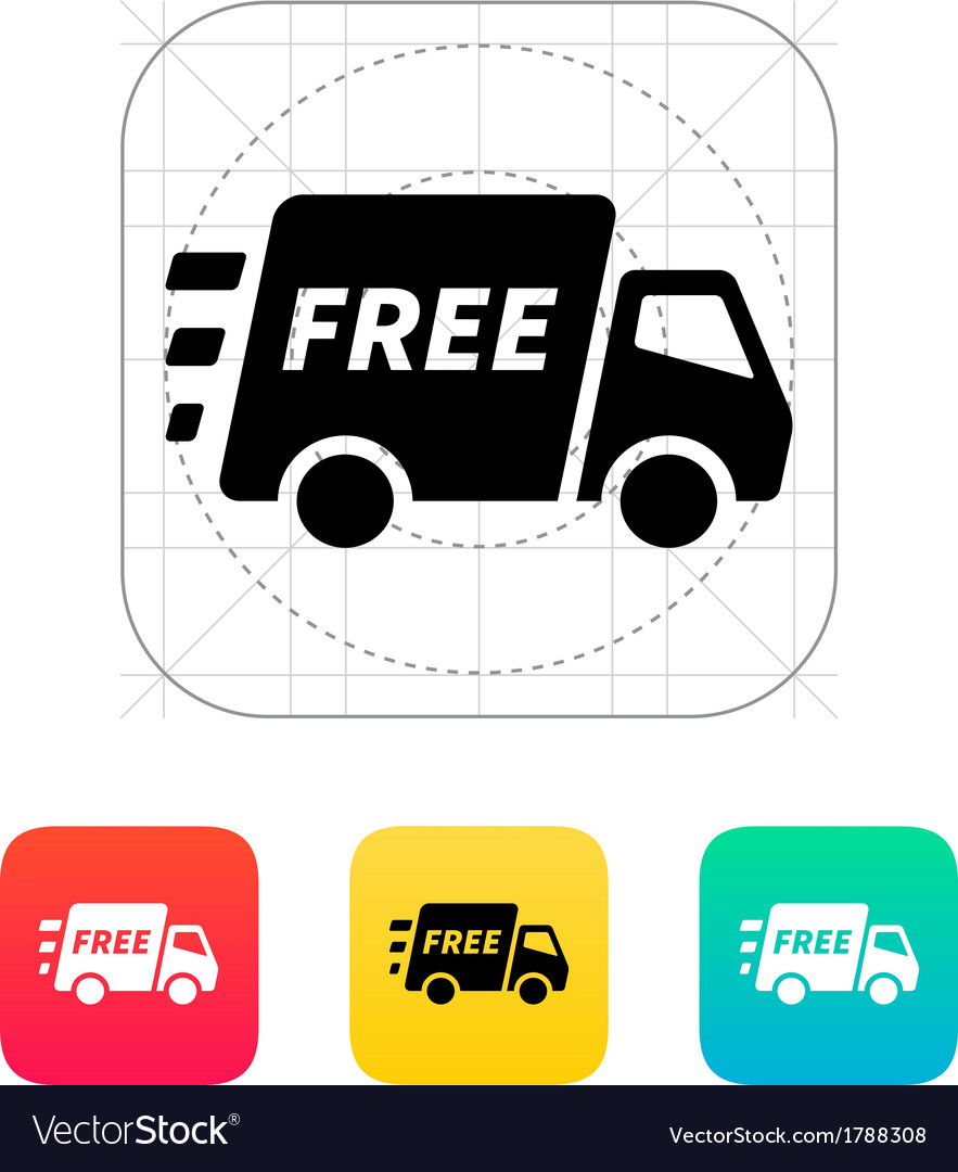 Free delivery support icon