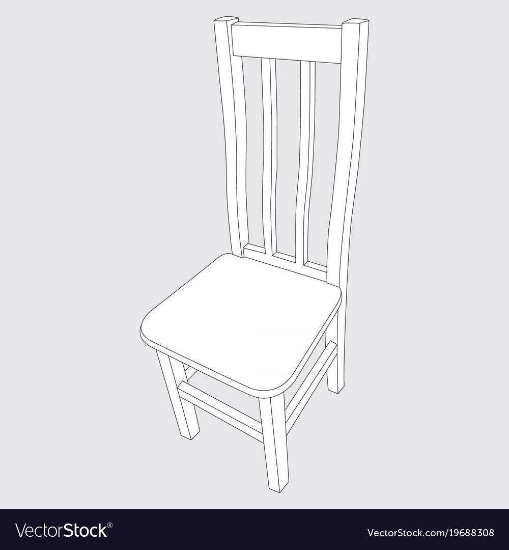 Image of a wooden chair