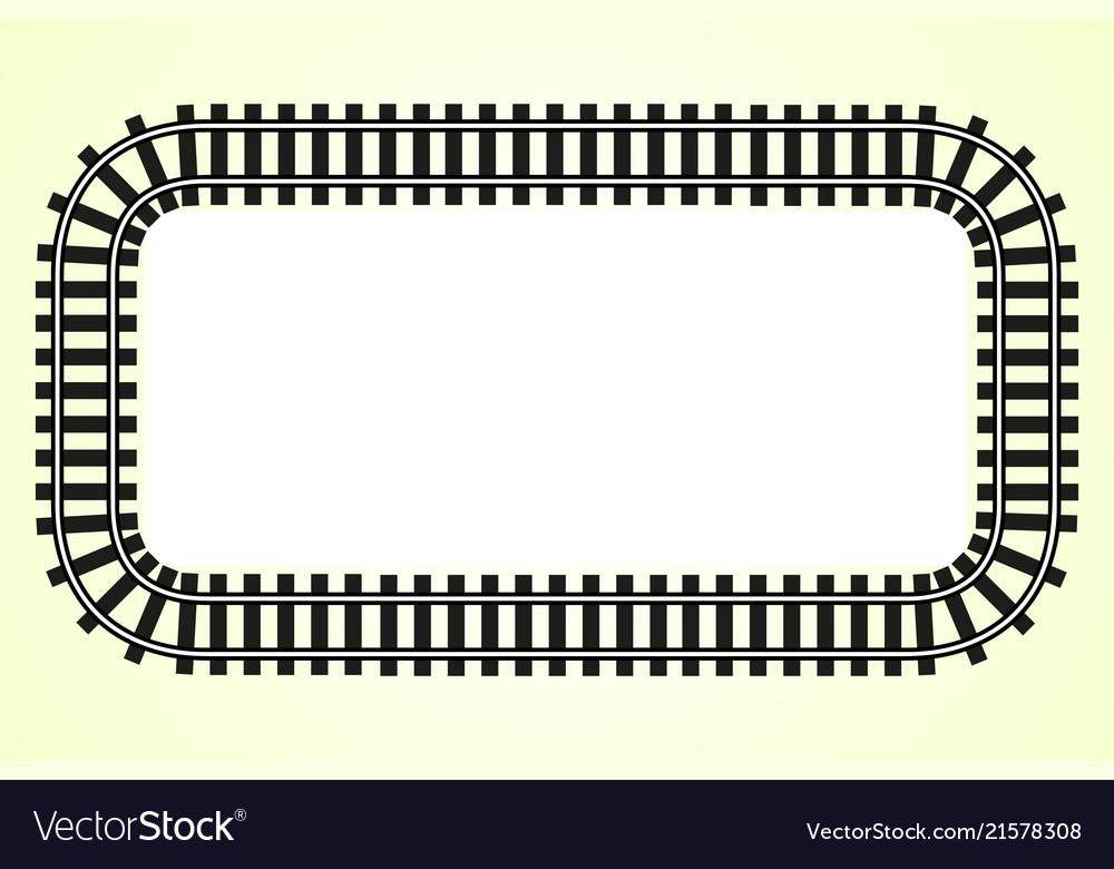 Locomotive railroad track frame rail