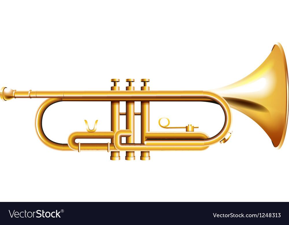A golden trumpet