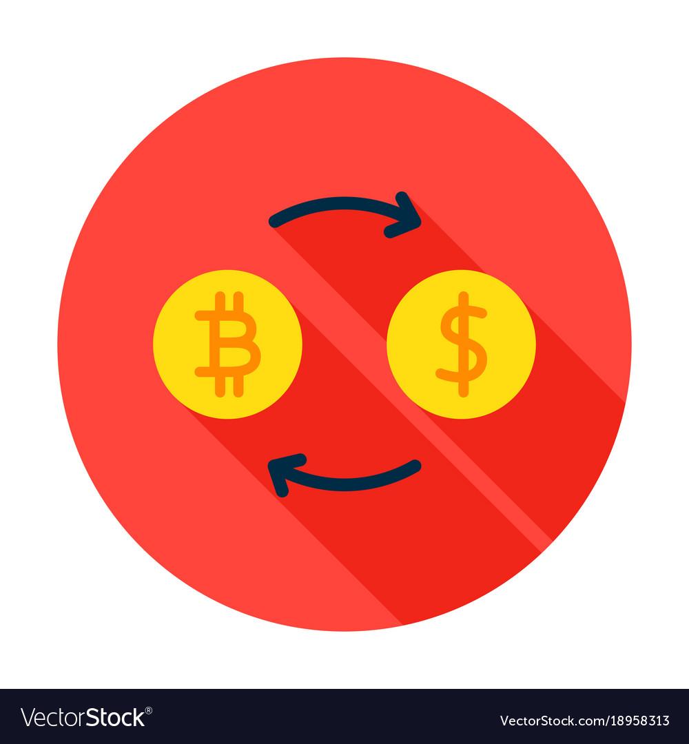 Bitcoin exchange circle icon vector image