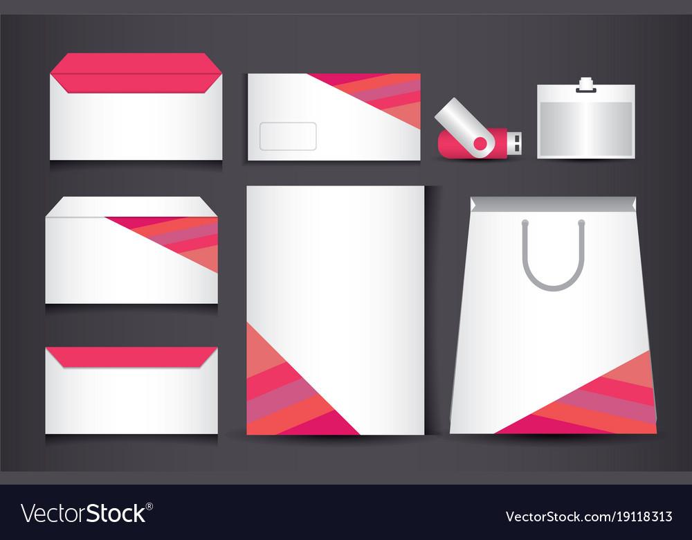 Corporate identity branding template design
