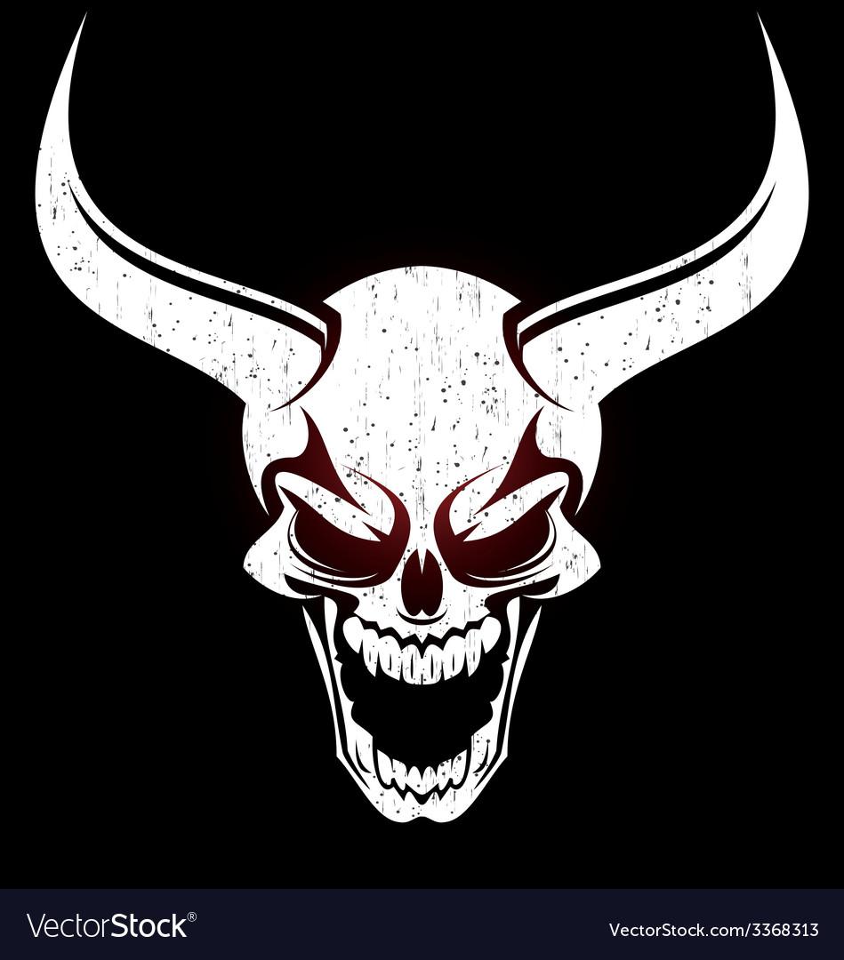 Demons Head vector image