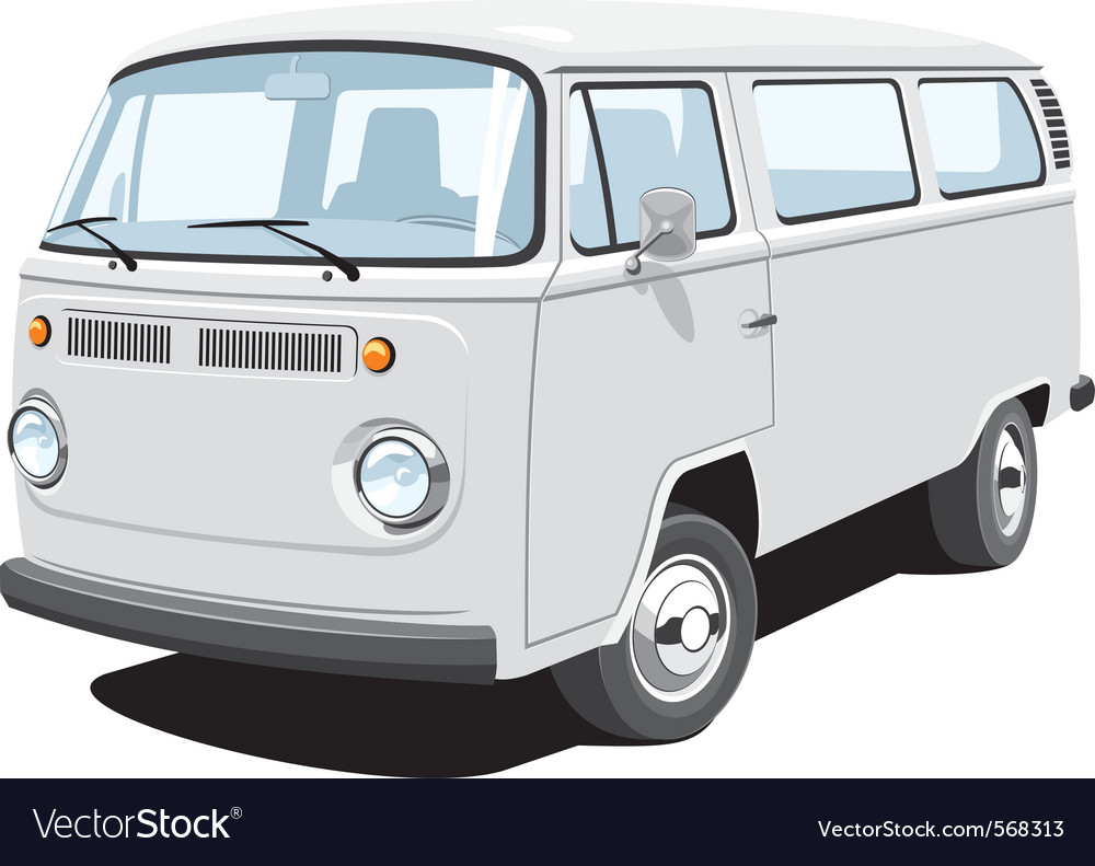 f976bfe031 Passenger and cargo van Royalty Free Vector Image