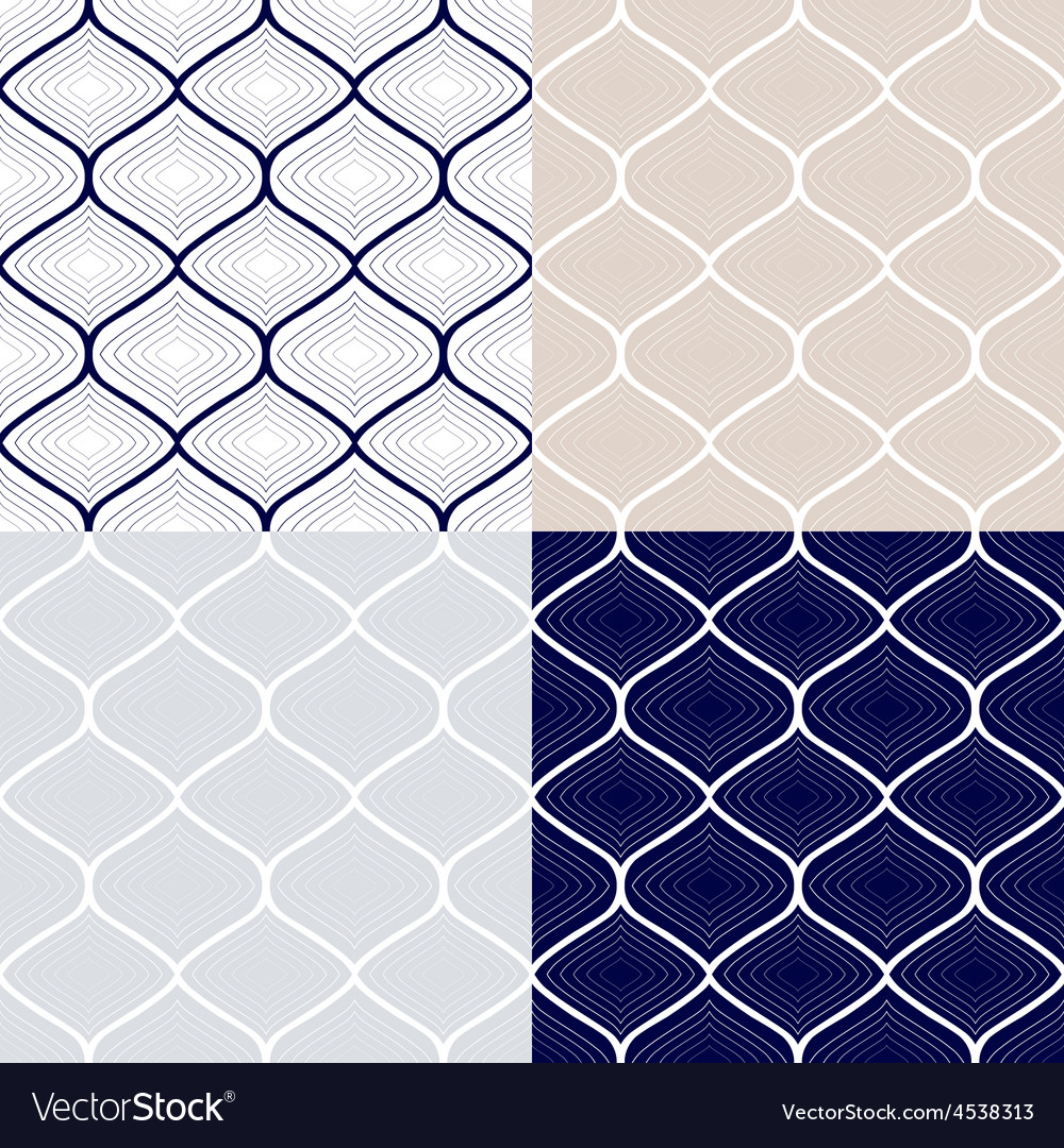 Set of seamless patterns in arabian style