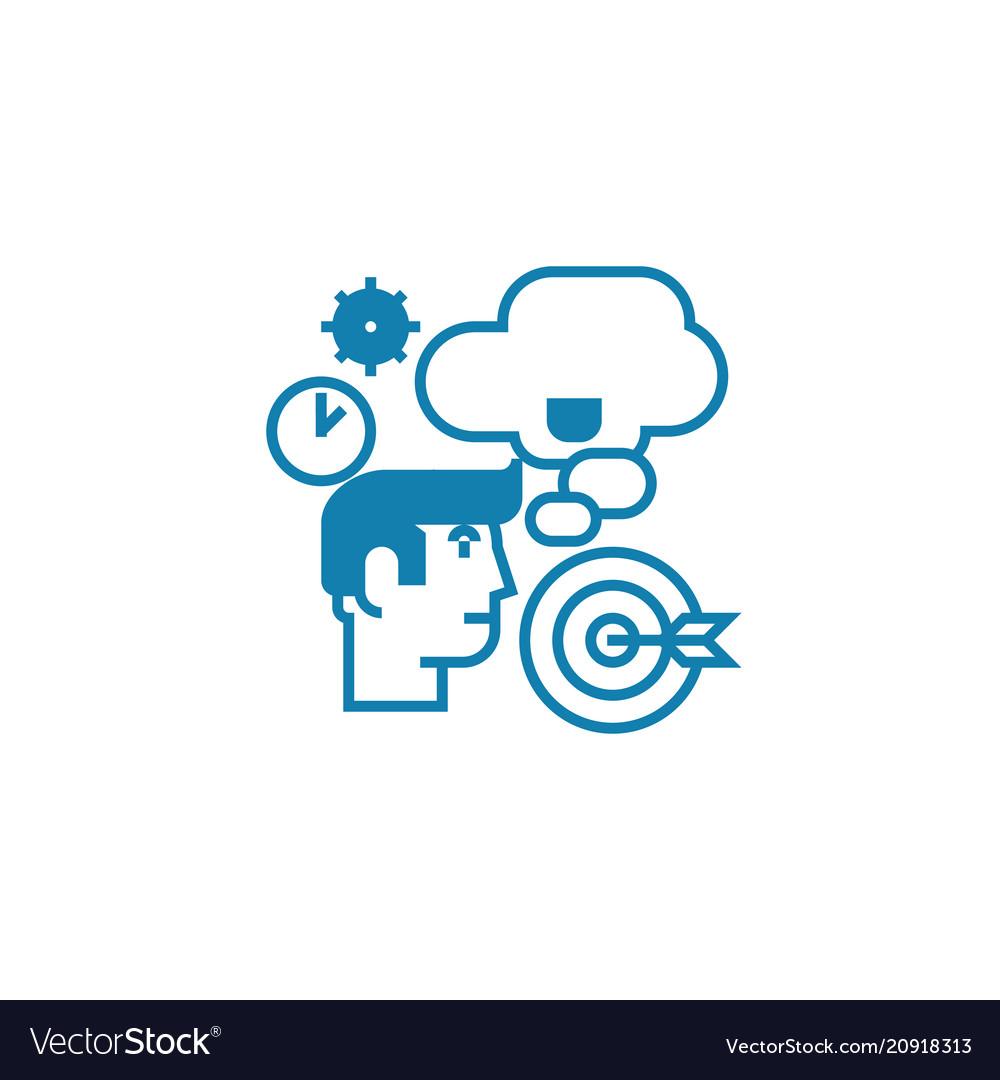 Strategic planning linear icon concept strategic vector image