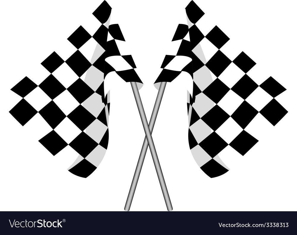 Two finish flag