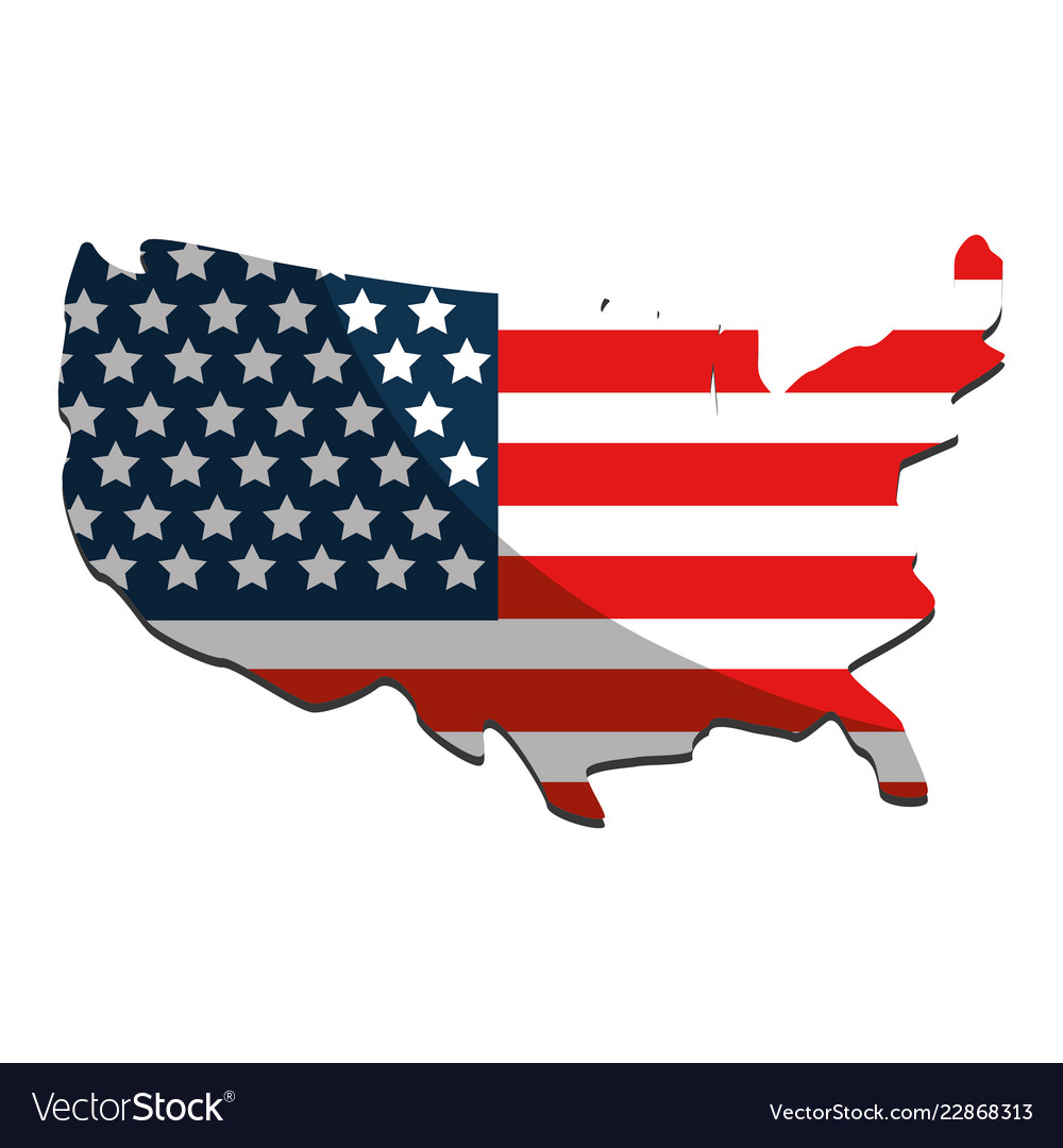United States Map And Flag Design Royalty Free Vector Image