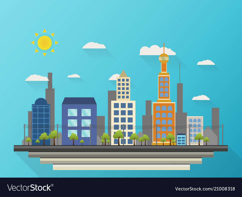 Abstract background of city view