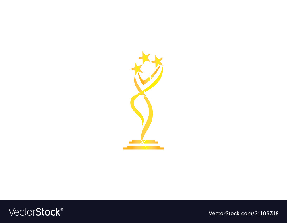 award success trophy template royalty free vector image