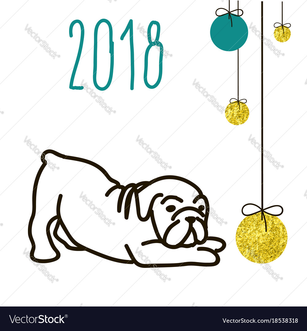 Dog is a symbol of the 2018 chinese new year