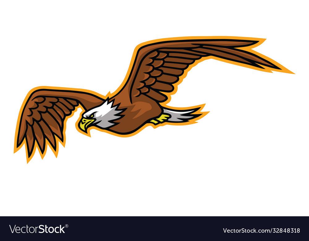 Eagle falcon flying mascot logo mascot