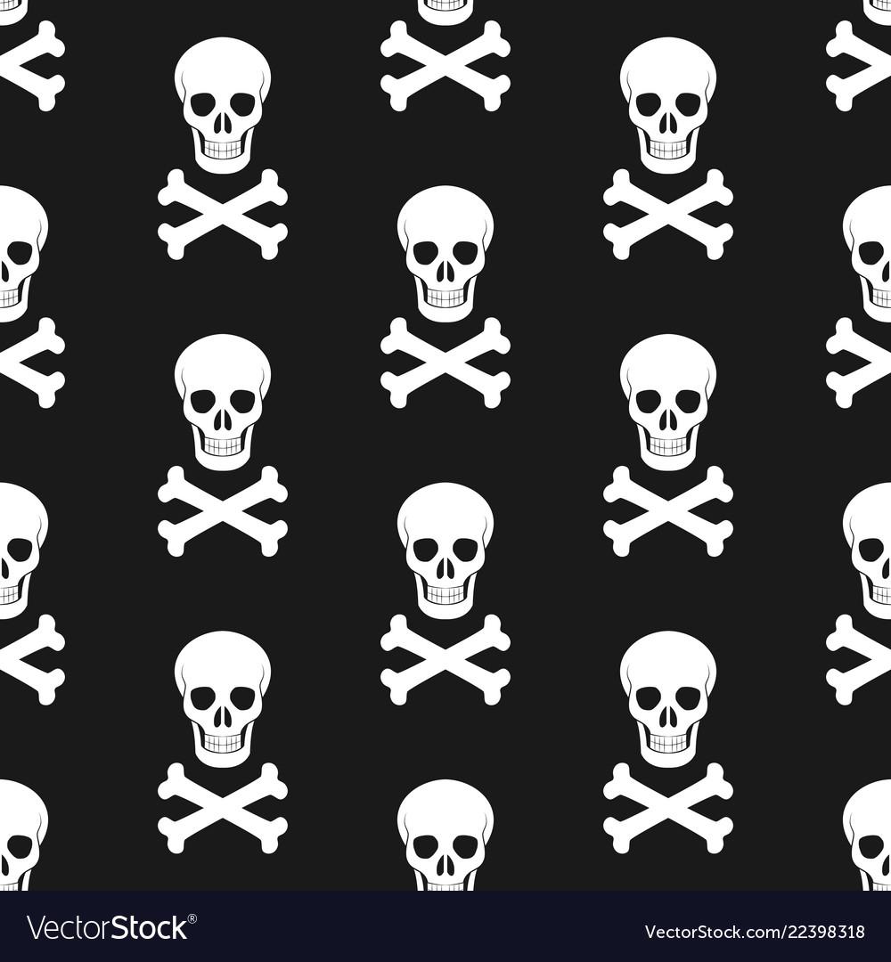 Halloween pattern skull and bones