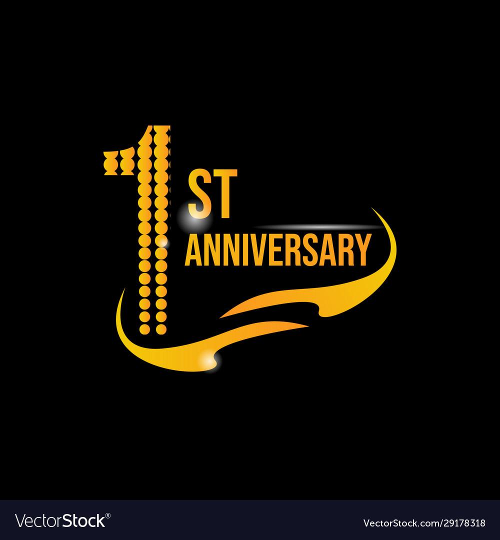 logo 1st anniversary royalty free vector image vectorstock