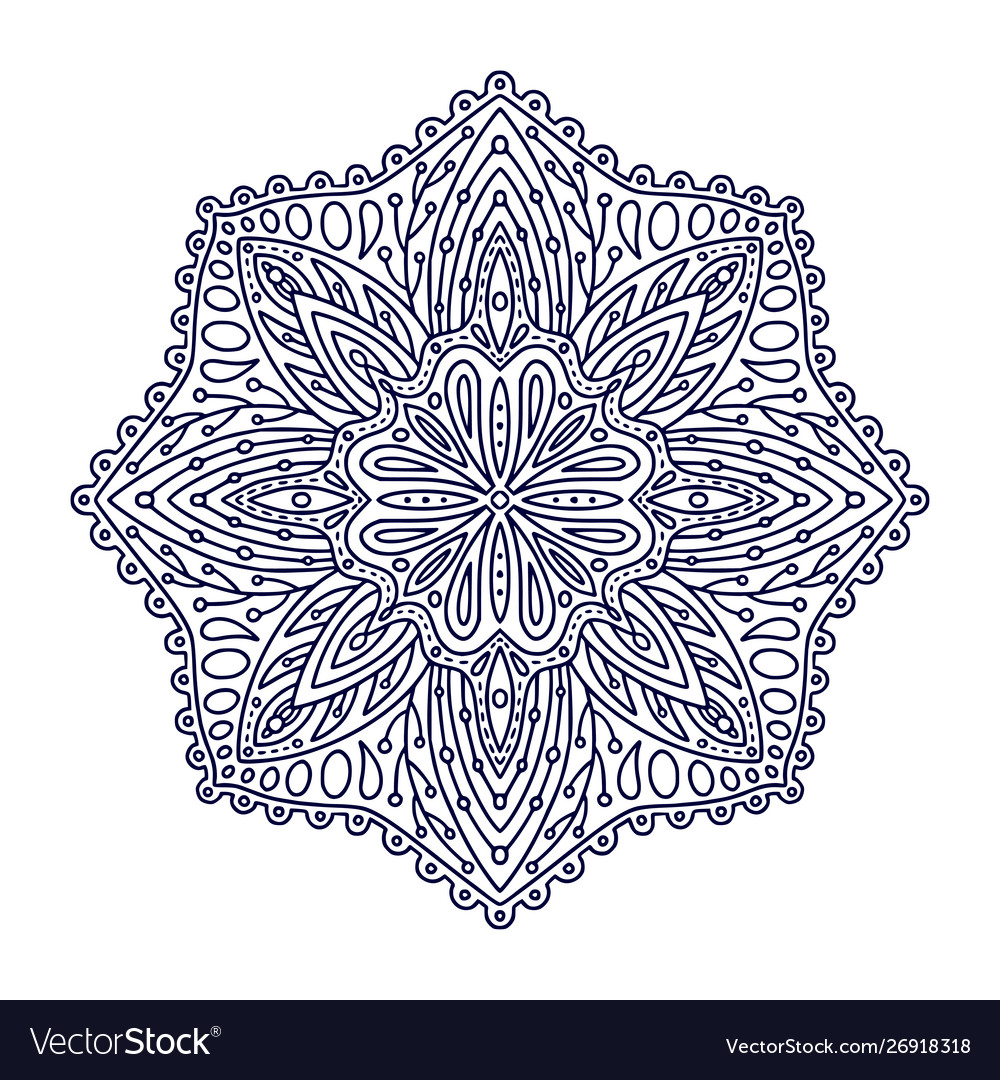 Ornamental mandala tattoo art design linear