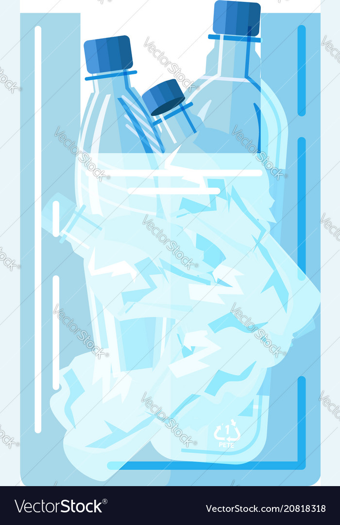 Package with empty bottles vector image