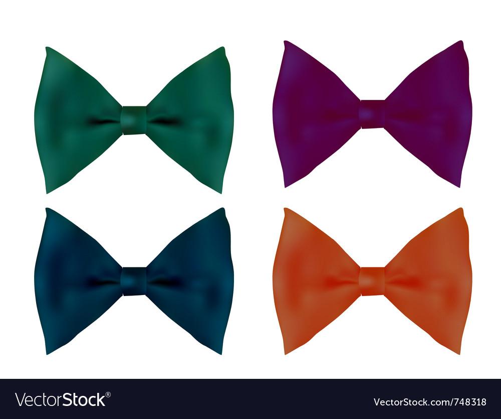 Realistic tie bows