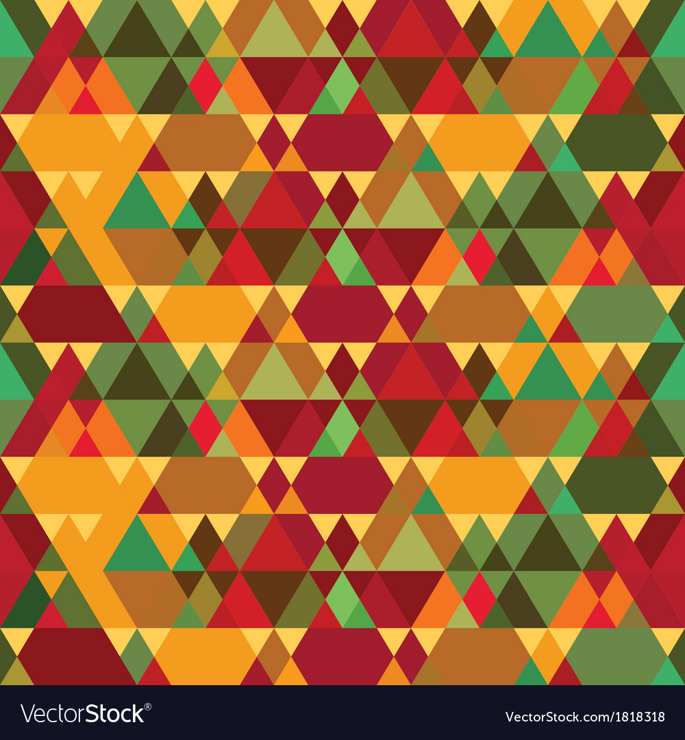 Triangles Vintage Seamless Pattern