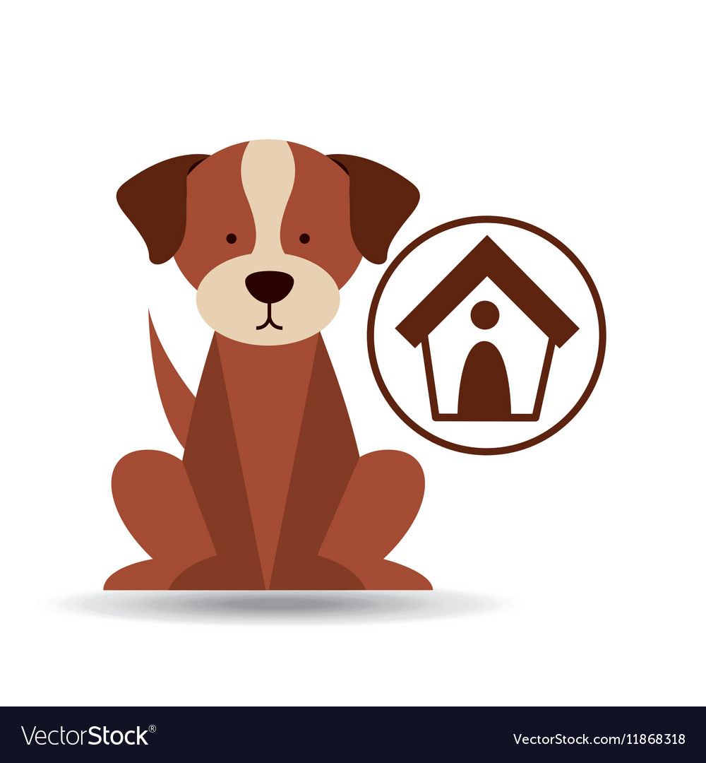 Veterinary dog care house dog icon