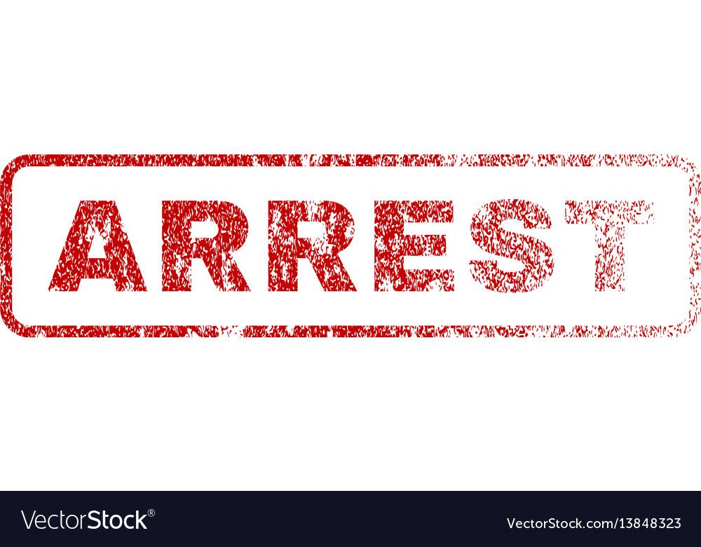 Arrest rubber stamp