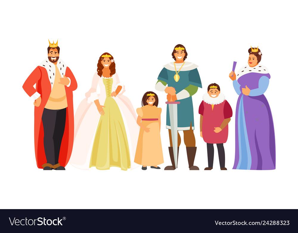 Big Royal Family Royalty Free Vector Image Vectorstock