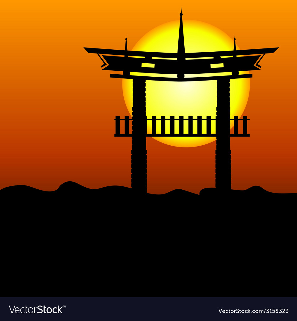 Chinese construction silhouette