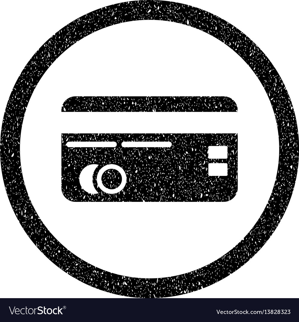 Credit card rounded icon rubber stamp vector image