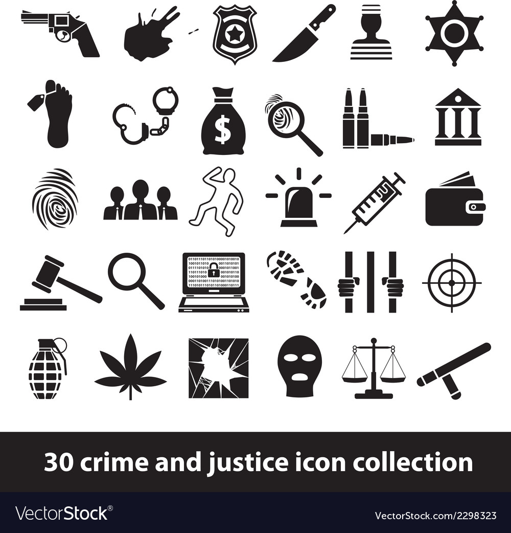 Crime and justice icons