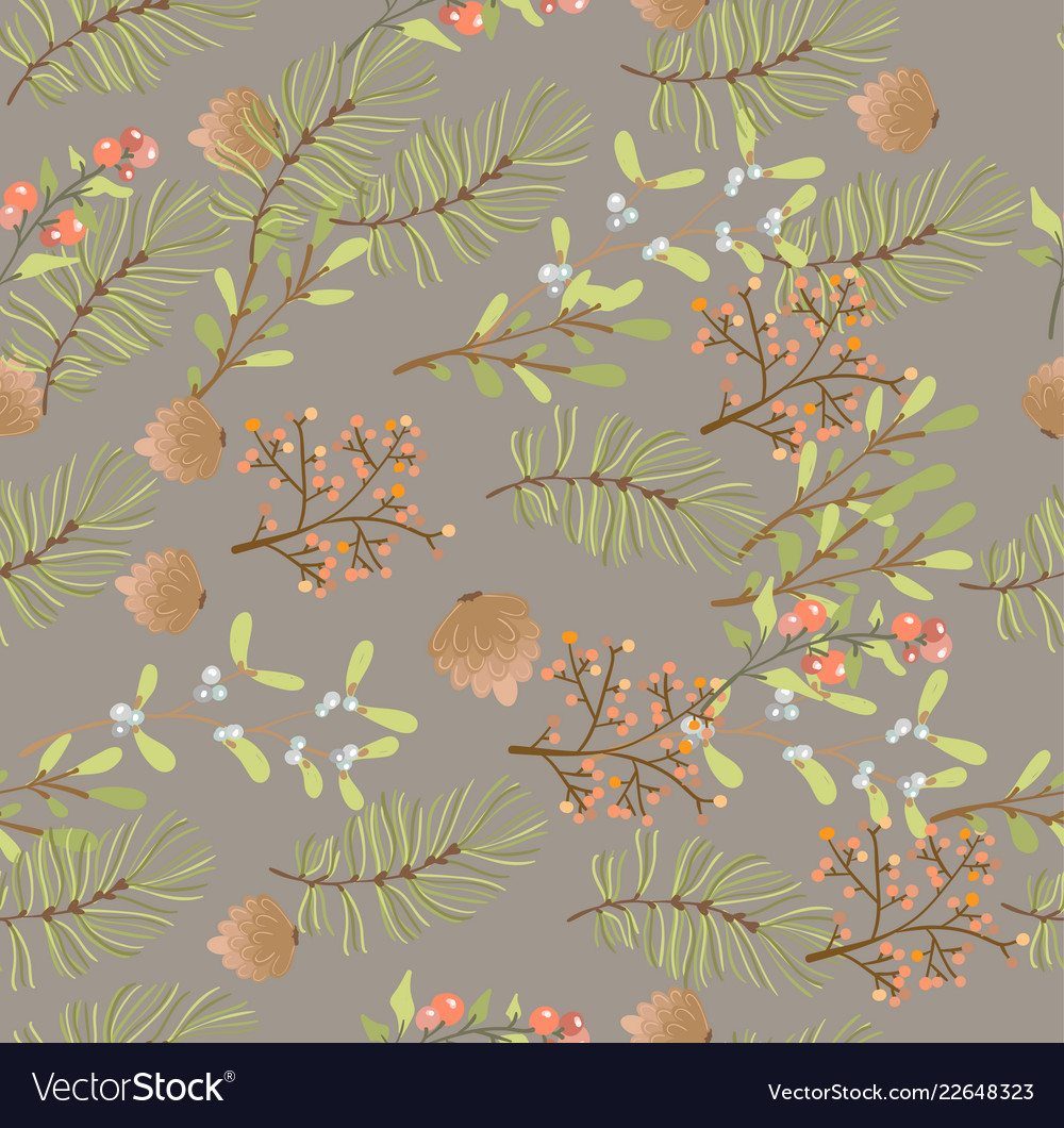 Floral seamless pattern decoration for christmas