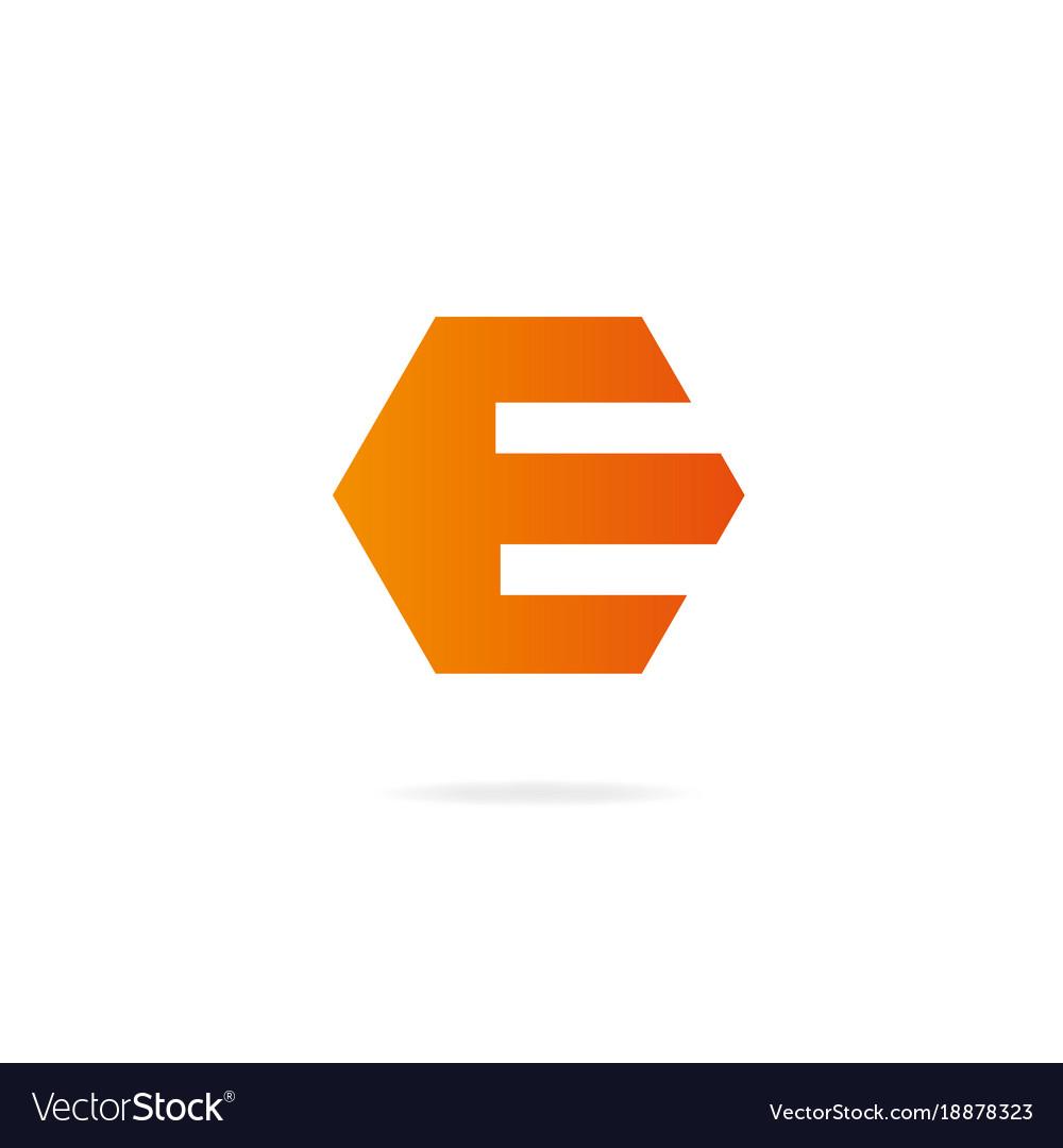 Letter e logo design template elements vector image